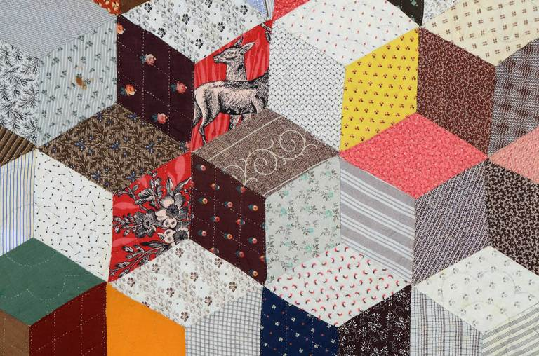 Tumbling Blocks Charm Quilt At 1stdibs