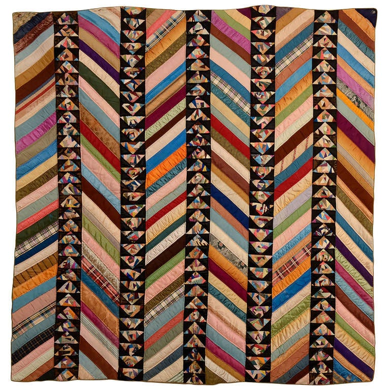 Chevrons and Wild Goose Chase Quilt 1