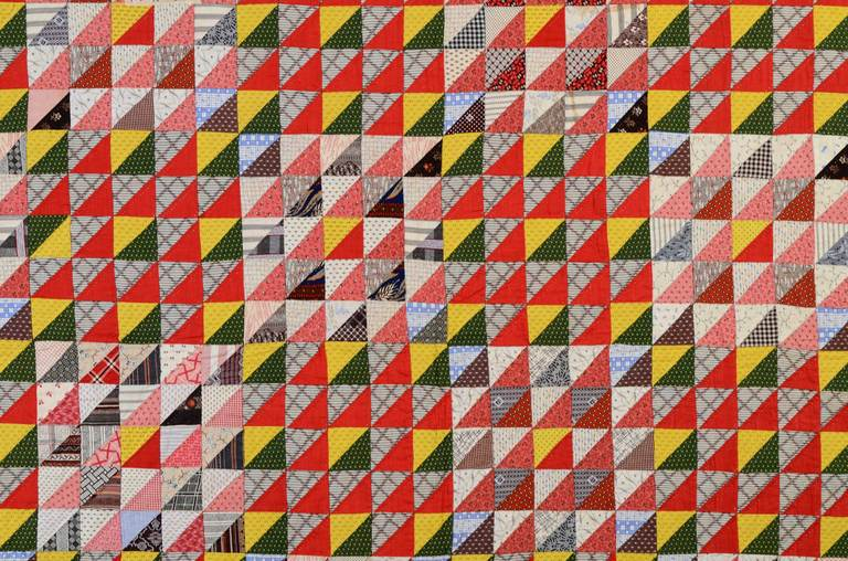 American Thousand Pyramids Quilt For Sale