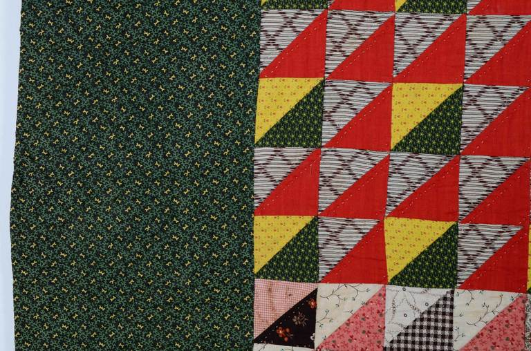 19th Century Thousand Pyramids Quilt For Sale