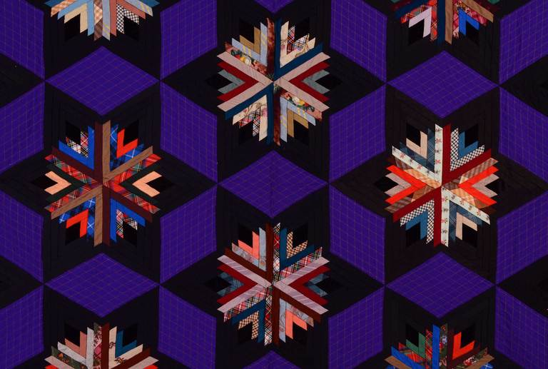 American Log Cabin in Stars Quilt
