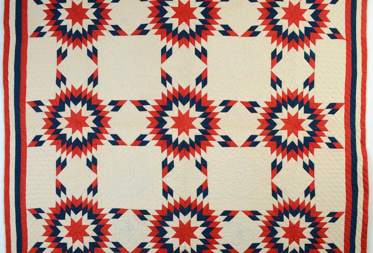 Patriotic Touching Stars Quilt 2