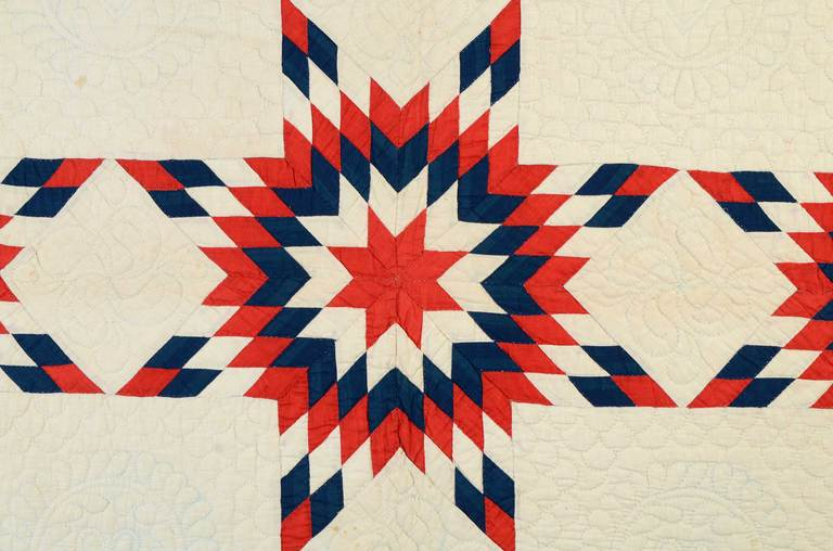 Patriotic Touching Stars Quilt 3