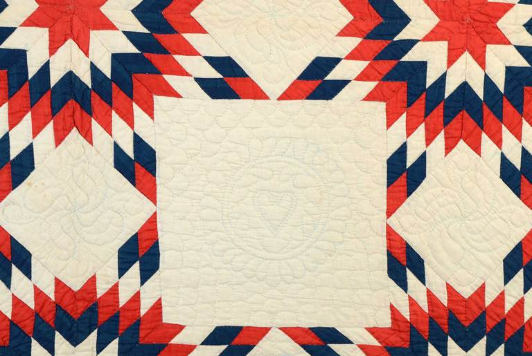 Patriotic Touching Stars Quilt 4
