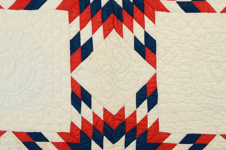 Patriotic Touching Stars Quilt 5