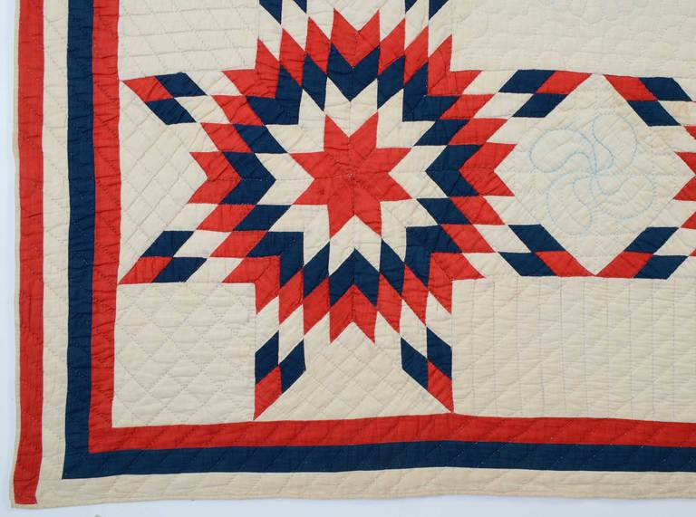 Patriotic Touching Stars Quilt 6