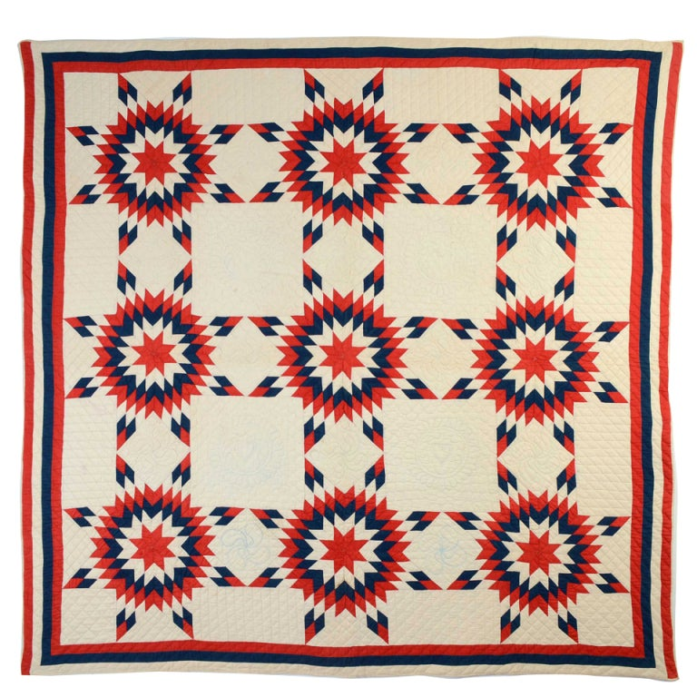 Patriotic Touching Stars Quilt 1