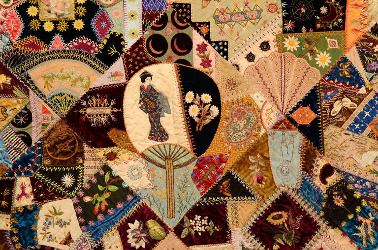 Extraordinary Victorian Crazy Quilt For Sale at 1stdibs : crazy quilt pictures - Adamdwight.com