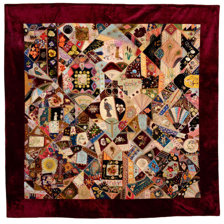 Extraordinary Victorian Crazy Quilt For Sale at 1stdibs