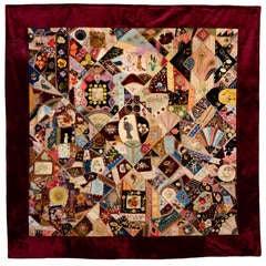 Extraordinary Victorian Crazy Quilt