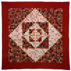 One Patch Diamond in Square Quilt