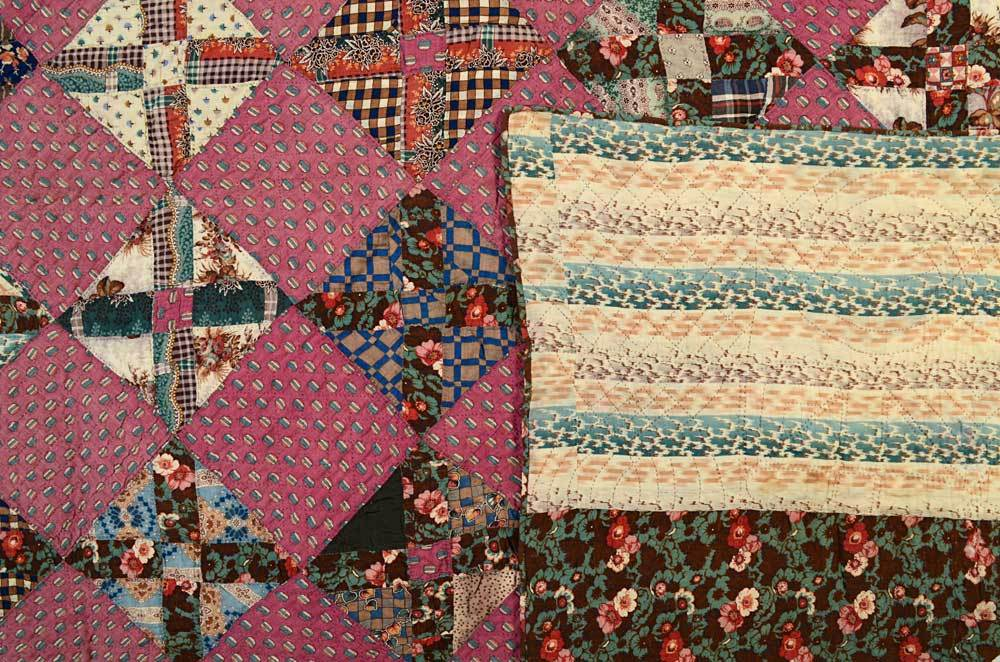 19th Century Texas Puzzle Quilt For Sale
