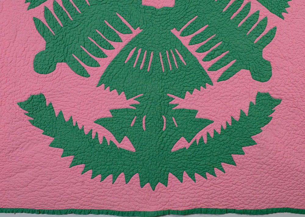 Hawaiian applique quilt at stdibs
