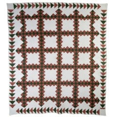 Irish Chain Quilt with Wild Goose Chase bORDER