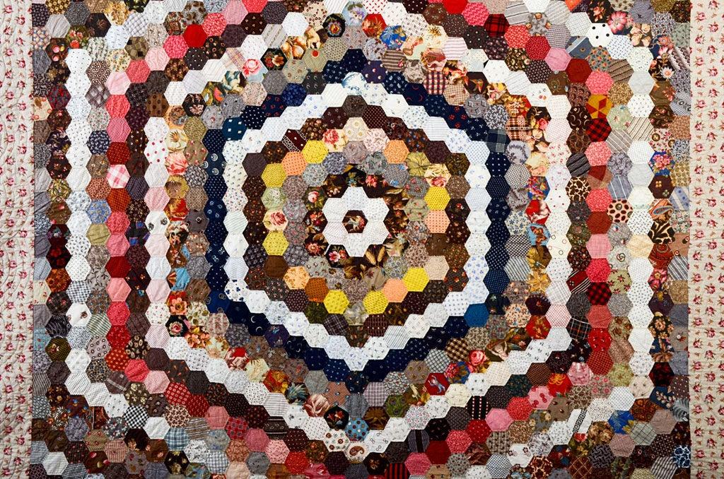 Center Medallion Hexagons Quilt at 1stdibs