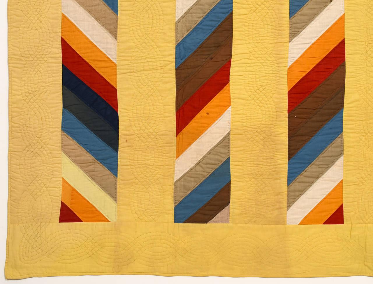 Patchwork Joseph's Coat Quilt For Sale