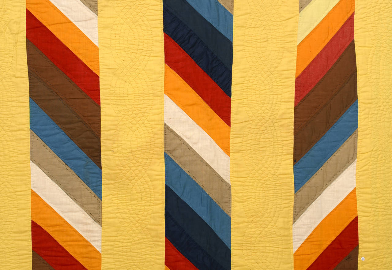 Joseph's Coat Quilt In Good Condition For Sale In Darnestown, MD