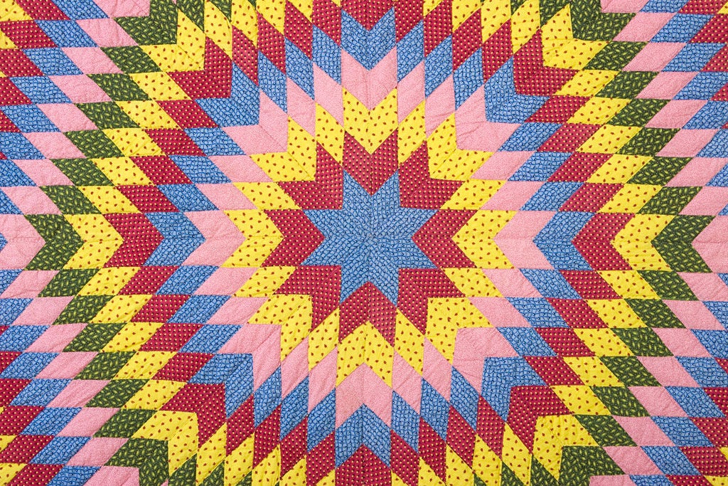 Star of Bethlehem Quilt In Excellent Condition For Sale In Darnestown, MD