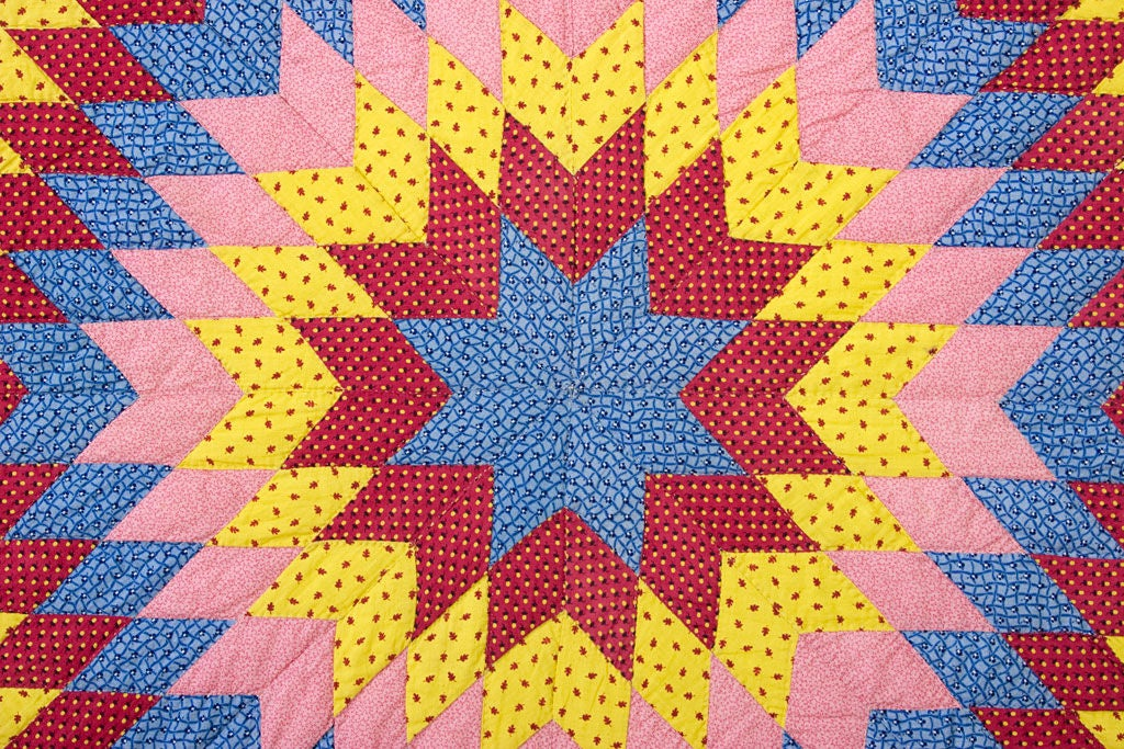 19th Century Star of Bethlehem Quilt For Sale