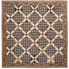 Old Italian Block Chintz Quilt