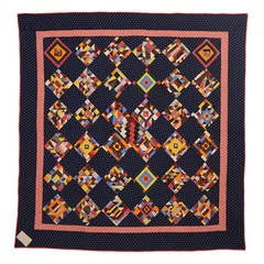 Contained Cotton Crazy Quilt