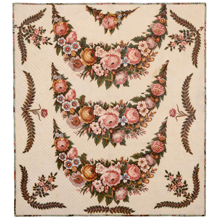 Broderie Perse Crib Quilt