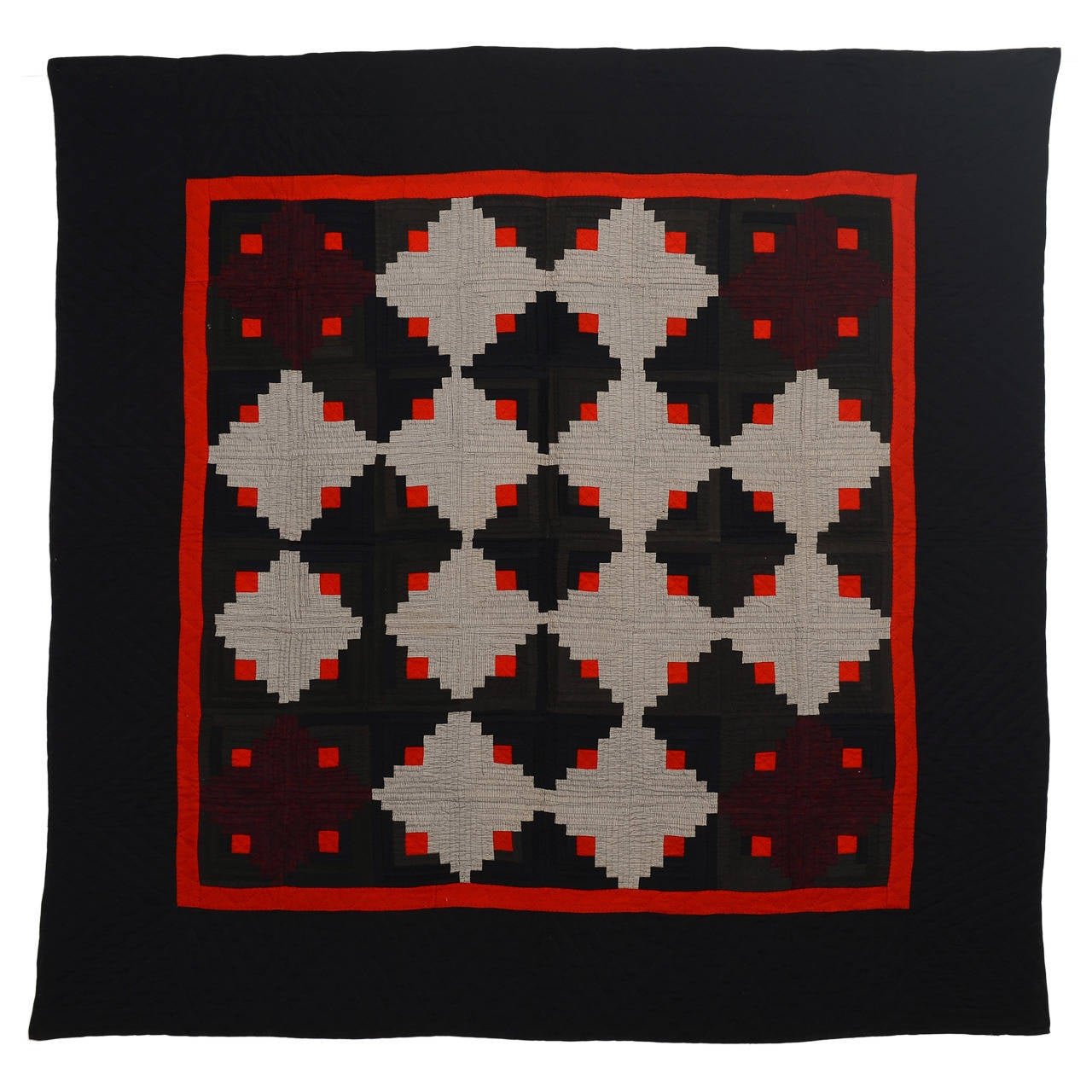 Marvelous photograph of Mennonite Log Cabin Quilt For Sale at 1stdibs with #BB1708 color and 1280x1280 pixels
