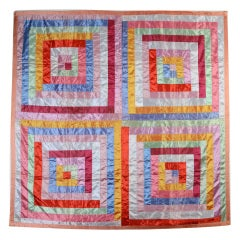Satin Log Cabin Quilt