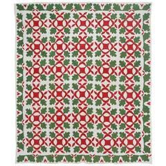 Oak Leaf Applique Quilt with Hearts Border