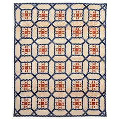 Garden Maze Quilt with Evening Stars
