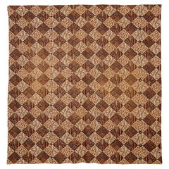 """Printed Patchwork """"Cheater's Cloth"""" Reversible Quilt"""