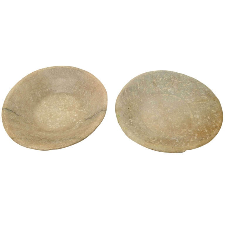 Pair of Soapstone Bowls