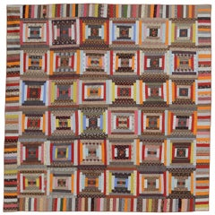 Courthouse Steps Log Cabin Quilt