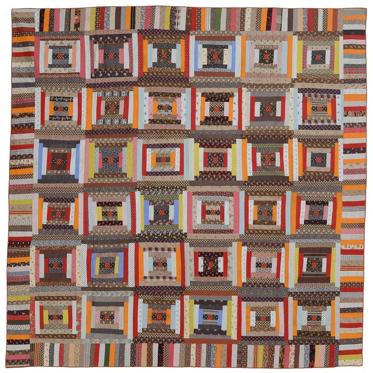 Courthouse Steps Log Cabin Quilt For Sale