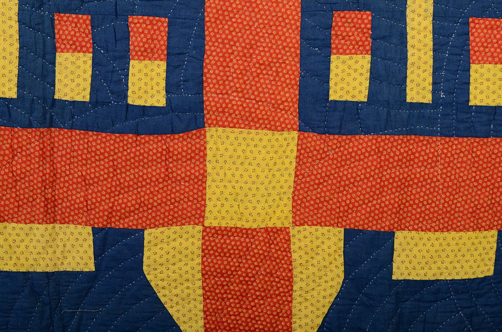 19th Century Schoolhouse Quilt For Sale