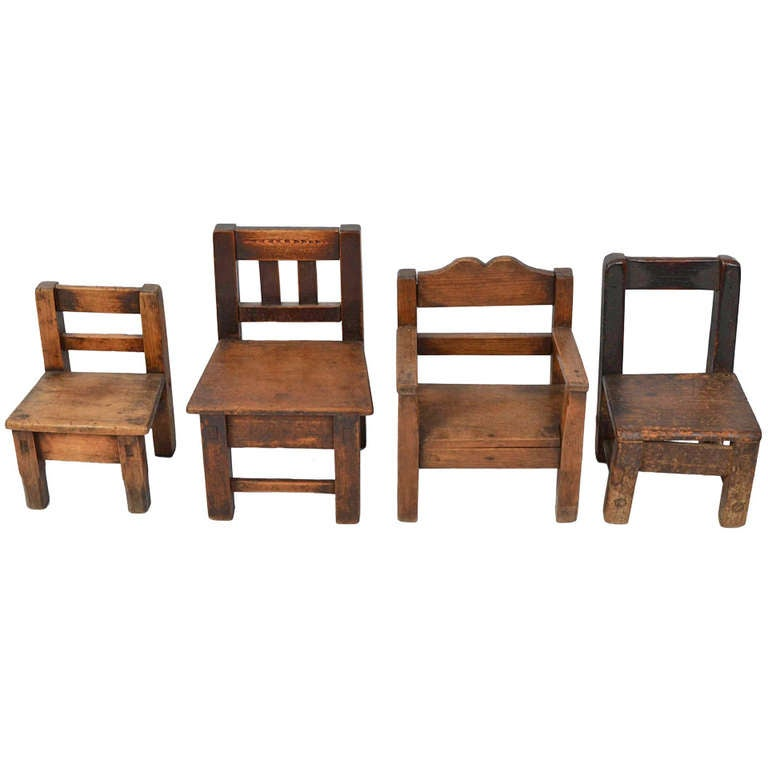 Assembled Set of Children's Chairs