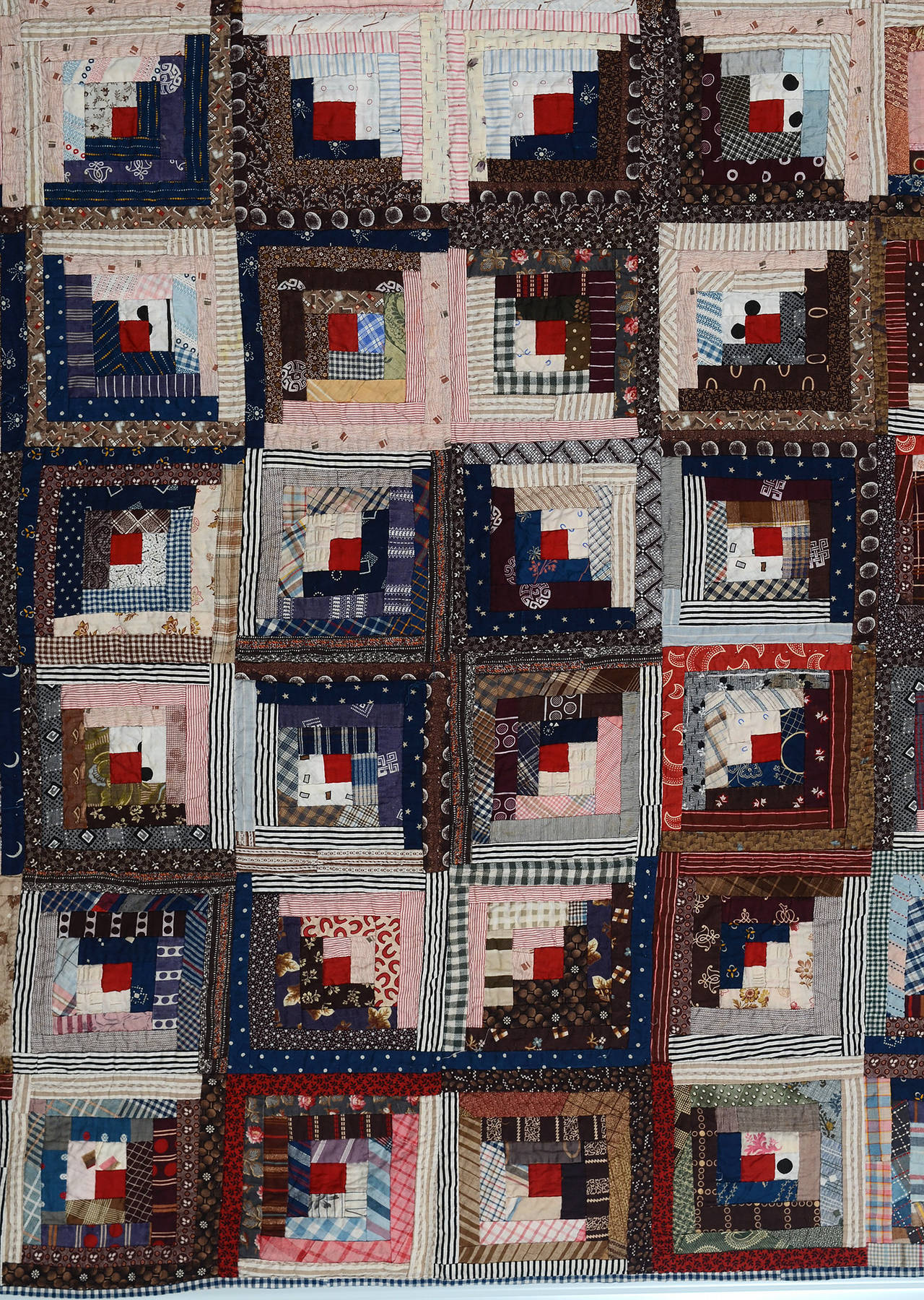 American Streak of Lightning Quilt with Star Center For Sale