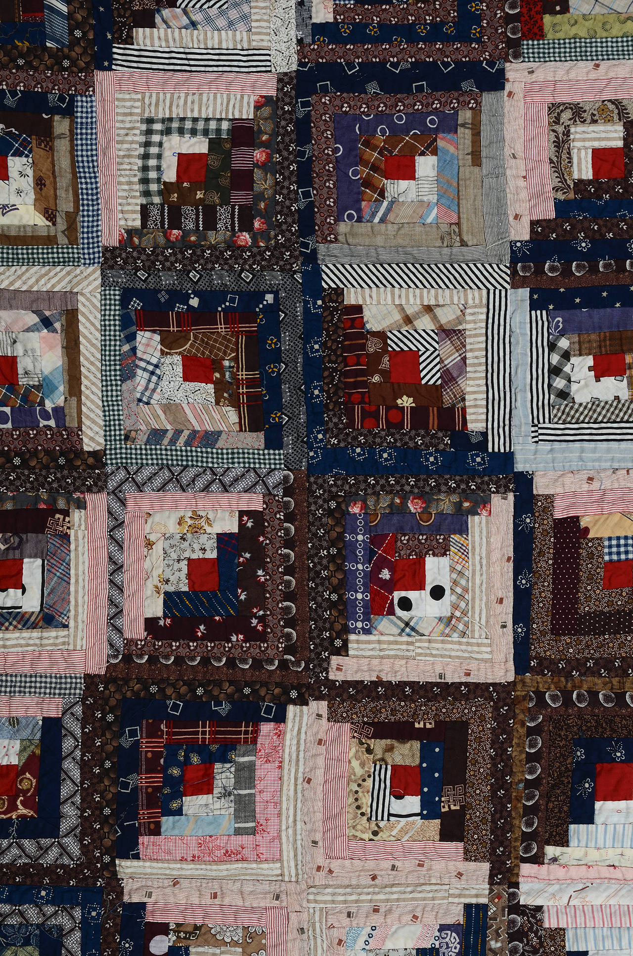Streak of Lightning Quilt with Star Center In Excellent Condition For Sale In Darnestown, MD