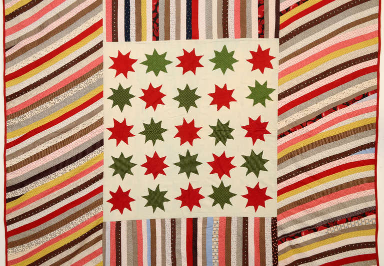American Stars and Stripes Quilt