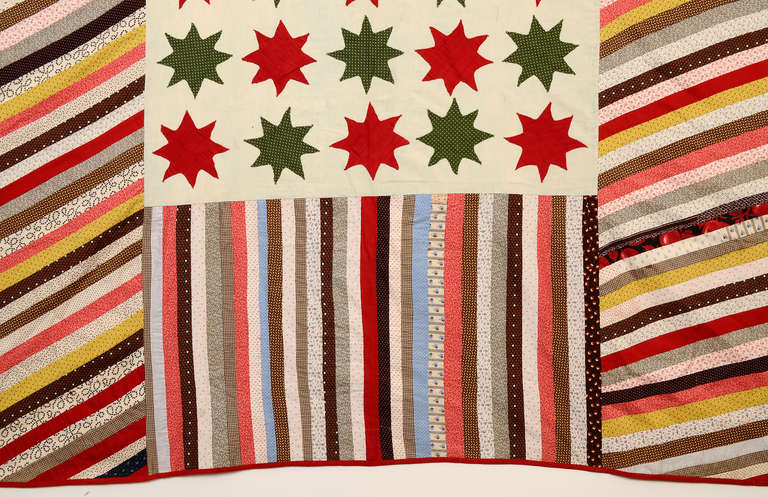 Stars and Stripes Quilt In Excellent Condition In Darnestown, MD