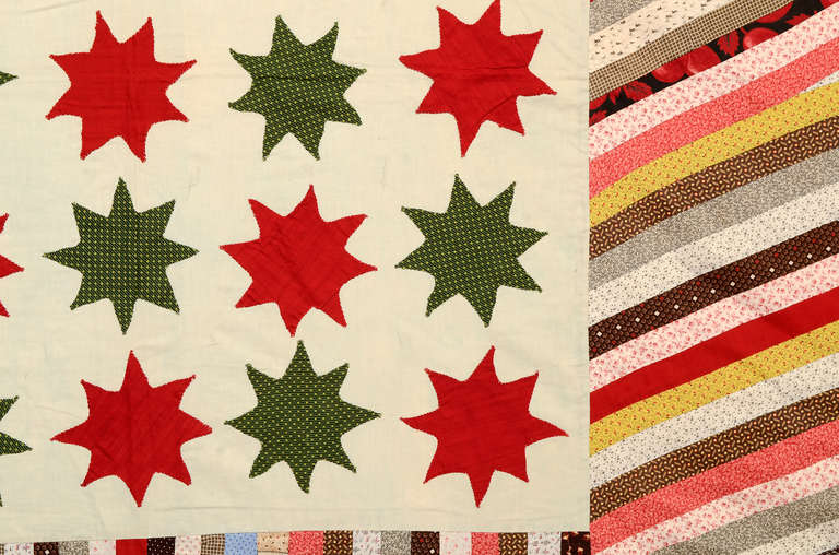 19th Century Stars and Stripes Quilt