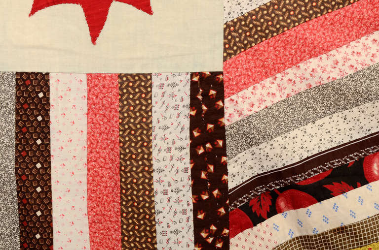 Cotton Stars and Stripes Quilt