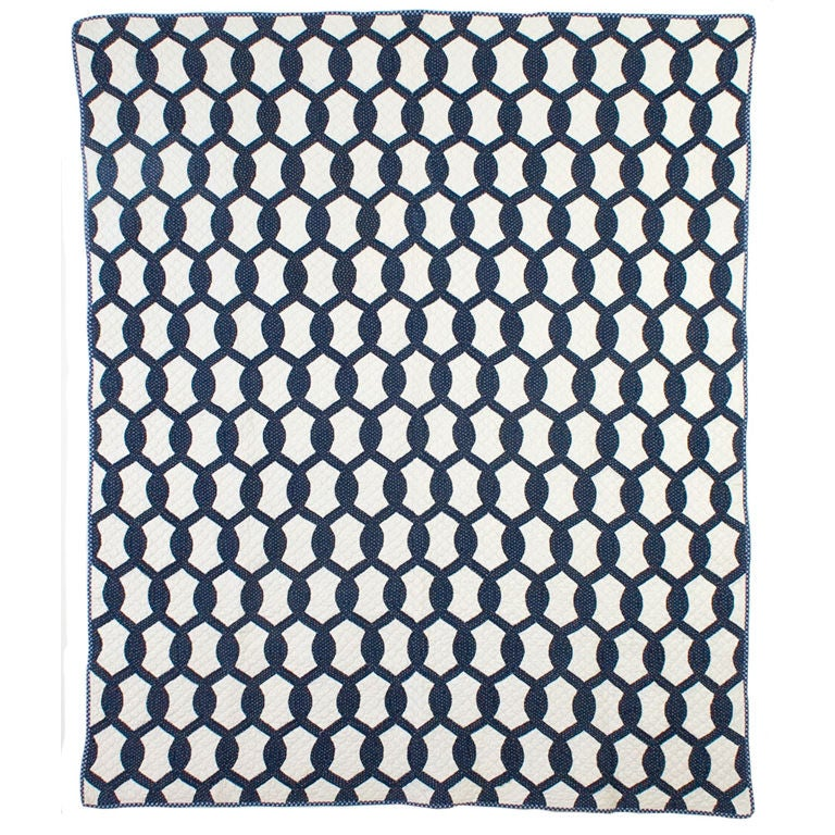 Quilting Pattern Lovers Knot : Lover s Knot Quilt at 1stdibs