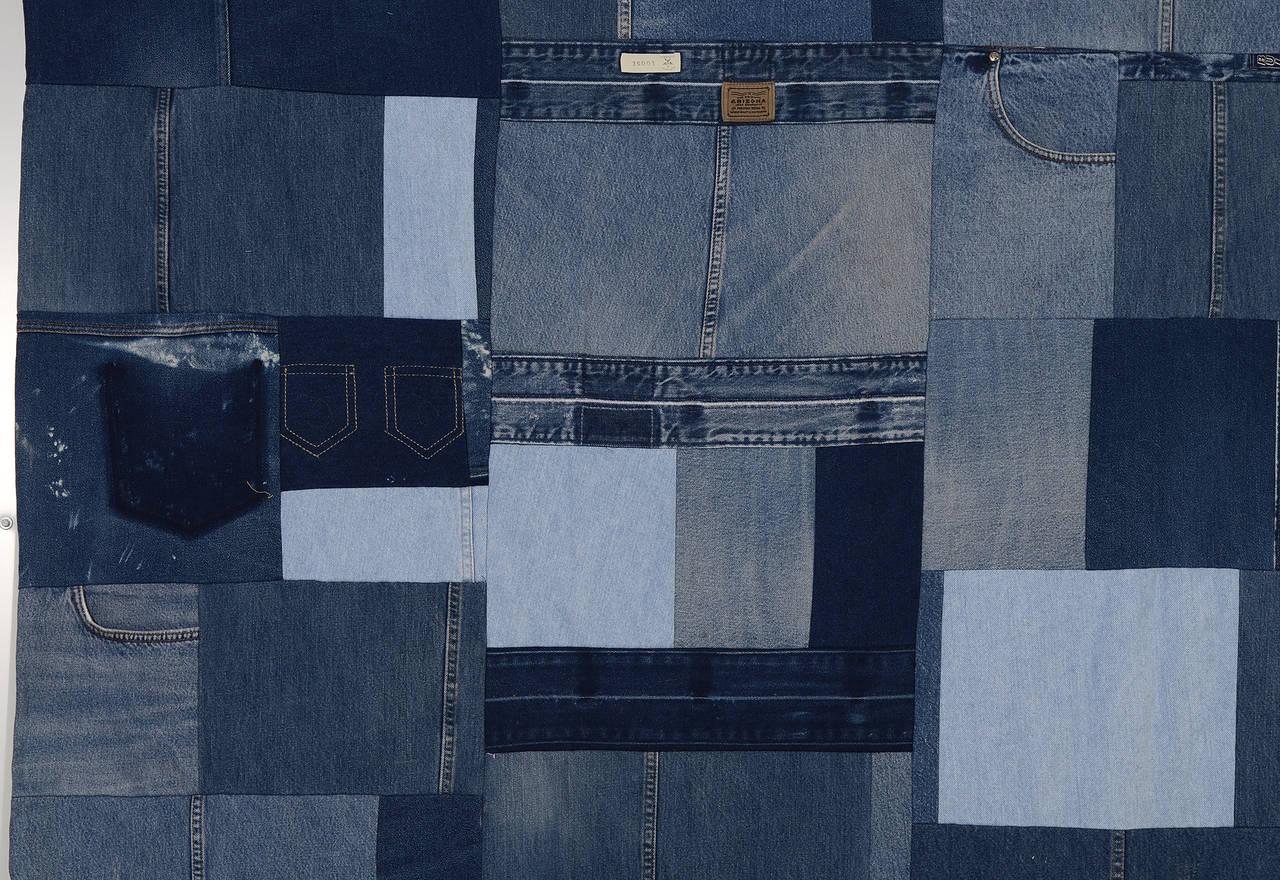 American Denim Indigo Quilt For Sale
