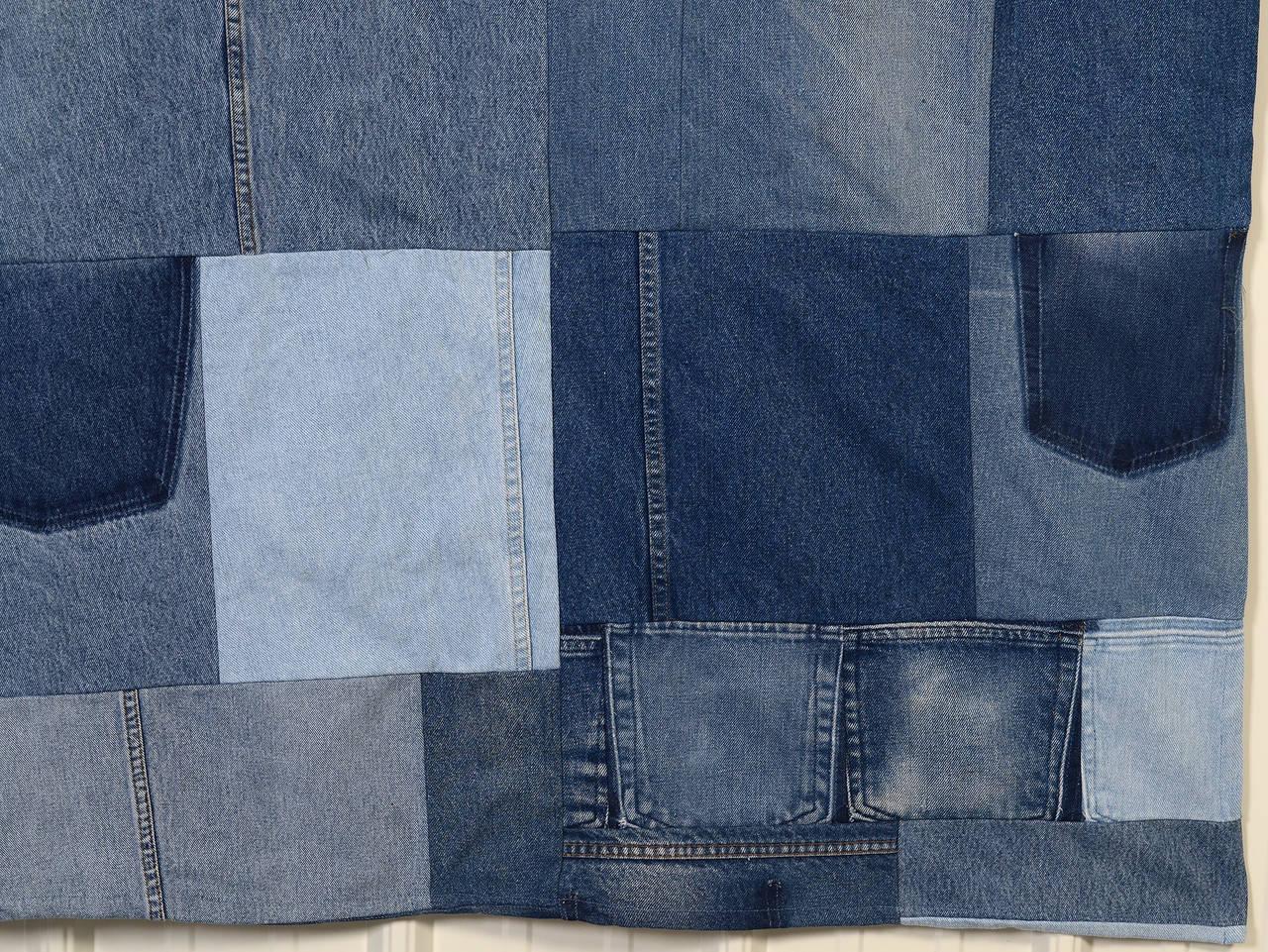 Late 20th Century Denim Indigo Quilt For Sale