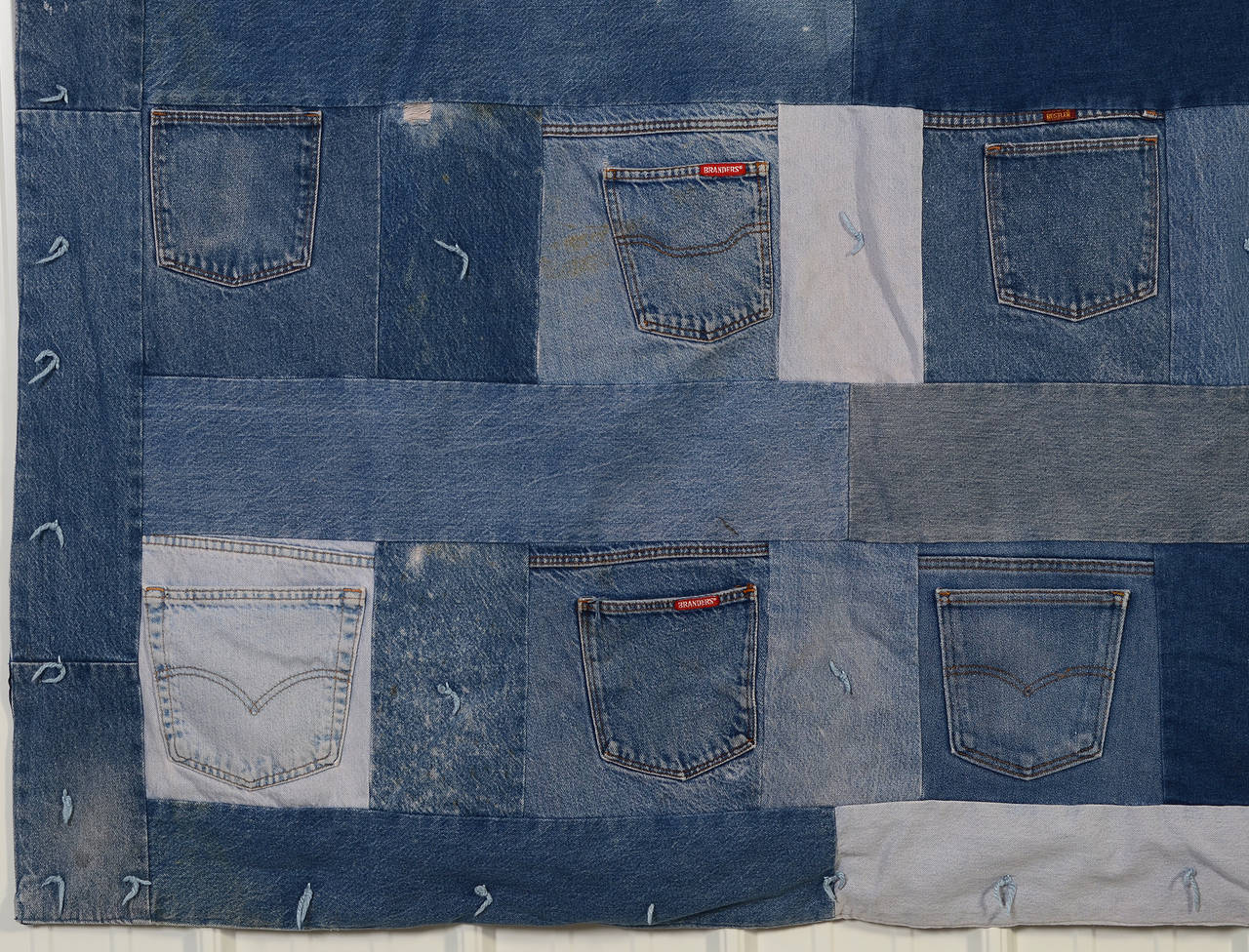 Denim Quilt with Jeans Pockets 2
