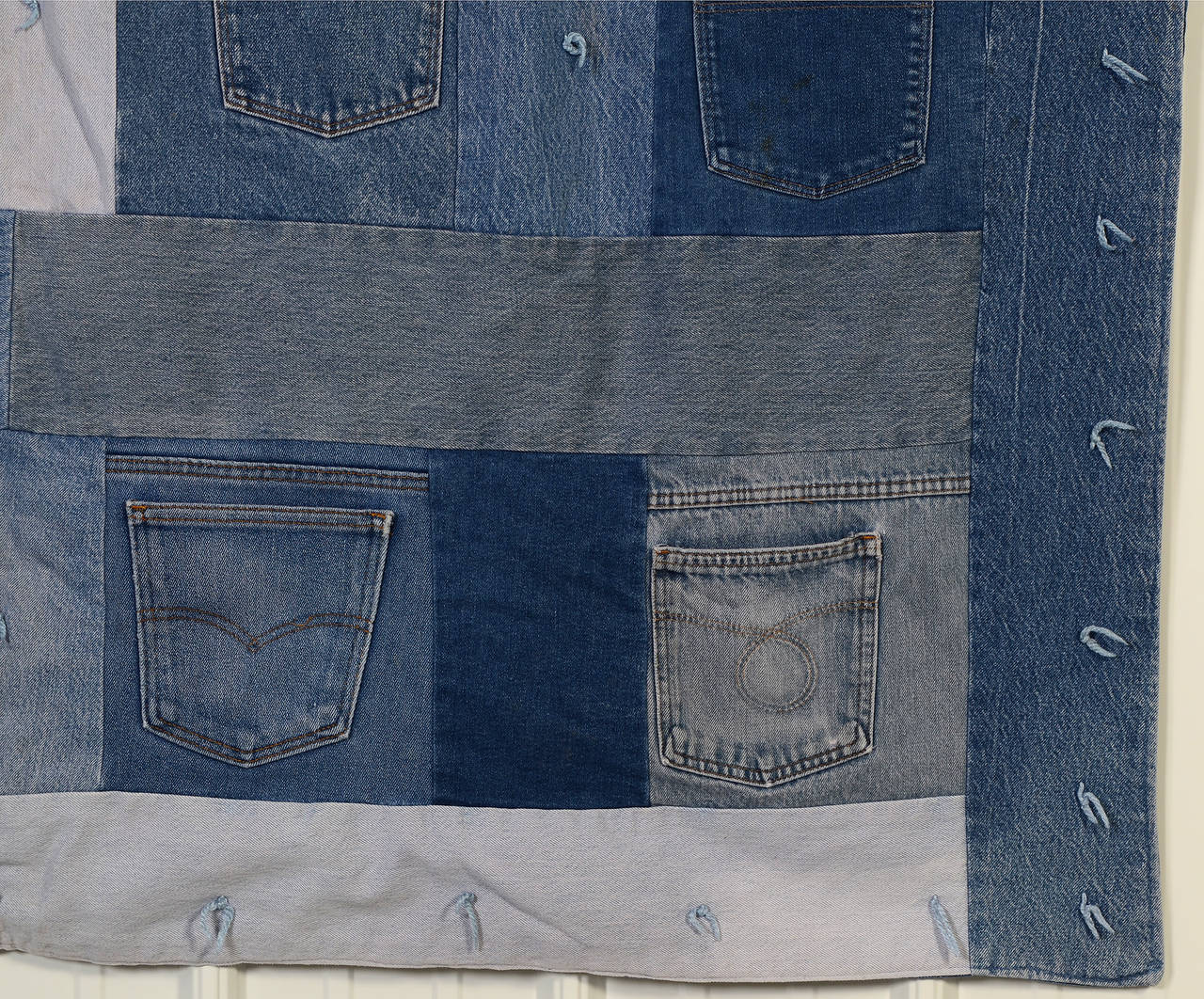 American Denim Quilt with Jeans Pockets For Sale
