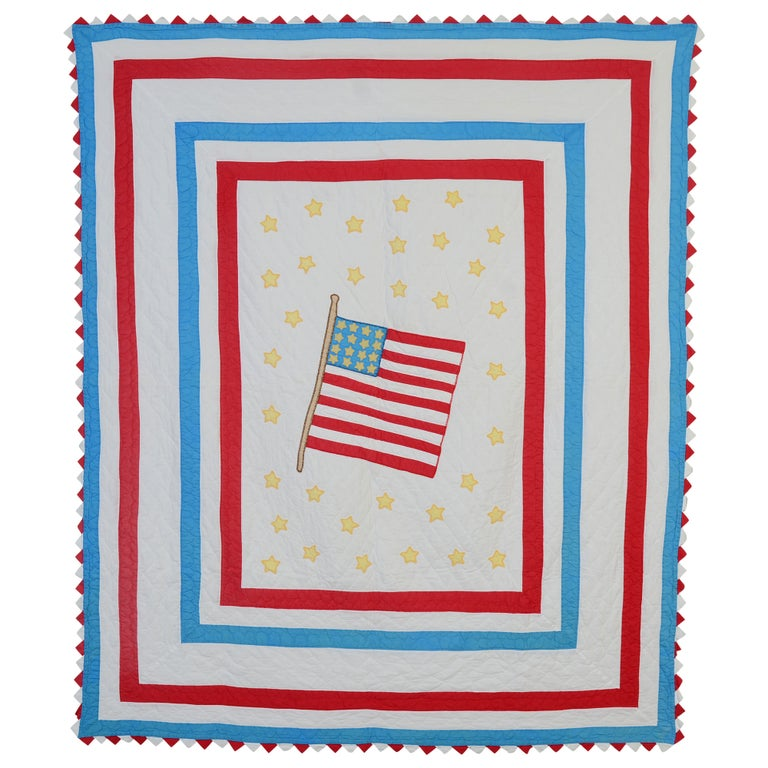 American Flag Quilt For Sale
