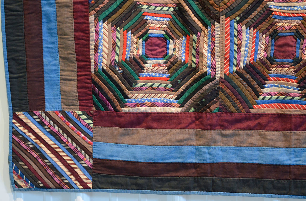 Windmill Blades Log Cabin Quilt For Sale At 1stdibs