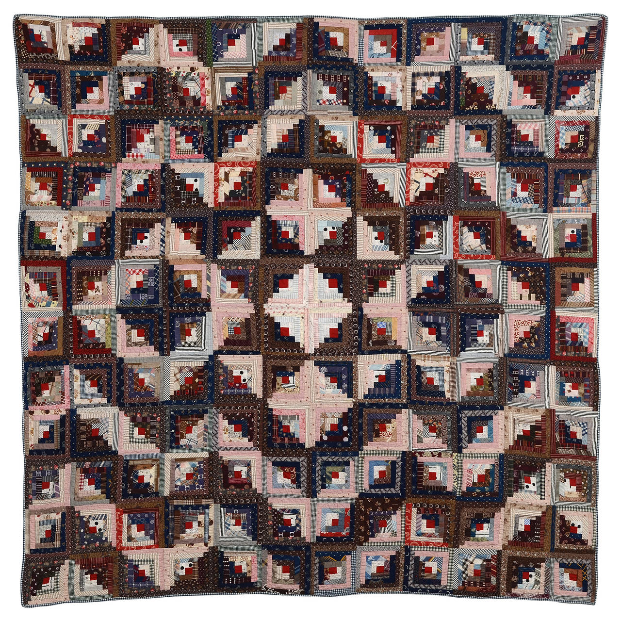 Streak of Lightning Quilt with Star Center